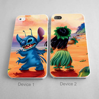 Stitch and Lilo Best Friend Couples Phone Case iPhone 4/4S, 5/5S, 5C Series - Hard Plastic, Rubber Case