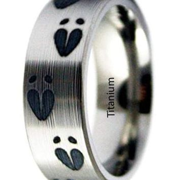 CERTIFIED 8mm Whitetail Deer Ring Deer Hunting Jewelry – White Tailed Wedding Ring