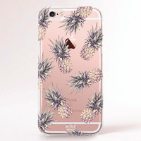 Clear Transparent iPhone 6s case, iPhone 6s plus case, iPhone 6 Case, iPhone 6 Plus Case, iPhone 5S Case, iPhone 5C Case - Pineapples