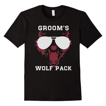 Groom's wolf pack, wild bachelor party gift t-shirts