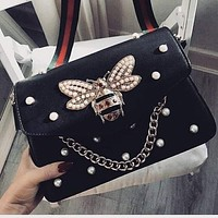 BEE Print Pattern Trendy Women's Fine Quality Leather Shoulder Bags F