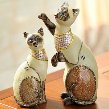 Creative Personality Resin Cat Figurine Statues