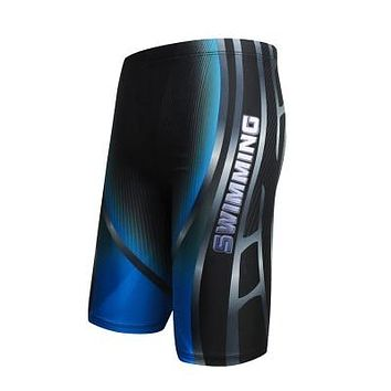 Boys Swim Trunks Waterproof Quick Dry Bathing Suit Man Diving Long Swimsuit Boxer Briefs Gay Beach Shorts Wear