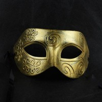 Shot-in Retro Roman gladiator Halloween party masks man woman children Masquerade mask Gold