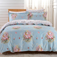Duvet Cover Sheets Set, Dolce Mela Livorno Queen Size Bedding
