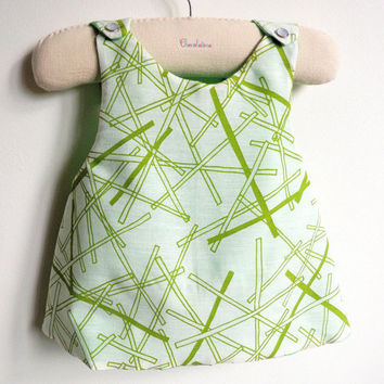 Reversible Pinafore top or dress - The Mikado - French Style - 6 months to 5Y
