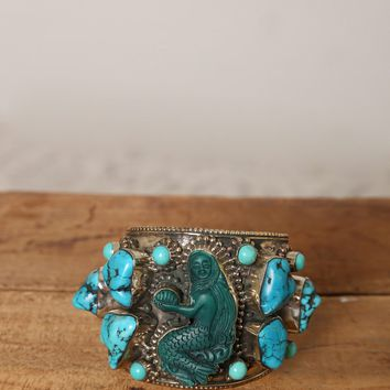 Turquoise Mermaid Cuff - Green - What's New at Gypsy Warrior