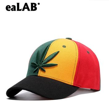 Trendy Winter Jacket eaLAB Baseball Cap Men Summer Dad Hat Women Black Visor Hemp Leaf Embroidery Adult Unisex Adjustable Casual Sport Snapback Hats AT_92_12