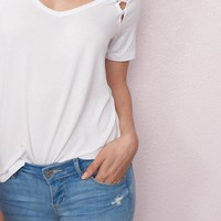 Relaxed Tee With Shoulder Detail
