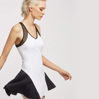 Michi Baseline Tennis Dress - White/Black