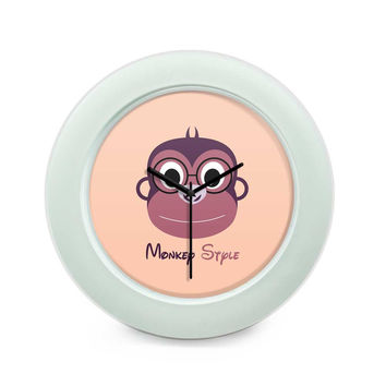 Monkey Style Colorful Table Clock