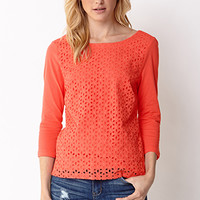 Essential Eyelet Top
