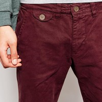 Bellfield Slim Fit Chinos with Turn Up