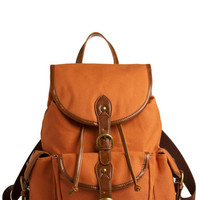 ModCloth Urban, Travel, Boho, Scholastic Backpack to the Future Bag in Pumpkin