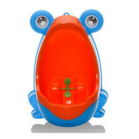 Detachable Frog Potty Pee Urine Training Infant Kids Urinal With Aiming Target 4 Colors   blue