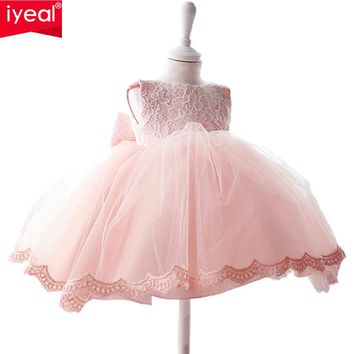 IYEAL Formal Lace Princess Cheap Flower Girl Dresses For Wedding Easter Party Infant Toddler Baby Christening Pageant dress