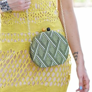 Geometric Circle Clutch - 2 Color Options