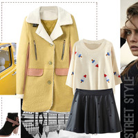 Graphic Popsicle Cropped Knit Sweater - OASAP.com
