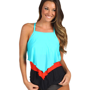 Athena Heavenly High Neck Tankini Top Black - Zappos.com Free Shipping BOTH Ways