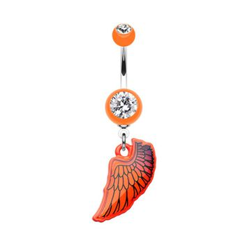 Bright Angel Wing Belly Button Ring