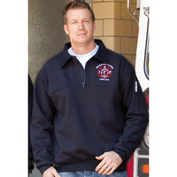 Firefighter's Full-Zip Navy Blue Job Shirt Game Sportswear 8075