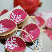 10 Paper baubles, POMEGRANATE, Christmas decoration, holiday decor, for wedding, party, home decoration, SET of 10