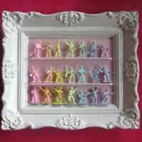 Marie Antoinette Inspired Mini Pastel Army Men Display