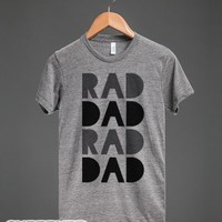 Rad Dad-Unisex Athletic Grey T-Shirt