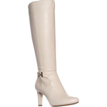 Bandolino Lamari Knee-High Fashion Boots, Off White Leather, 11 US