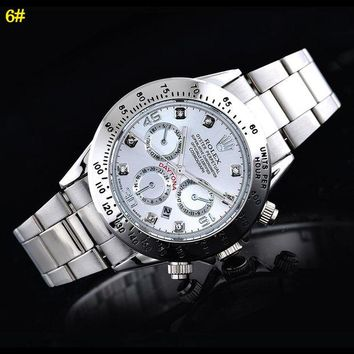 Rolex Watch Women's Men Classic Plaid print Watches Silver