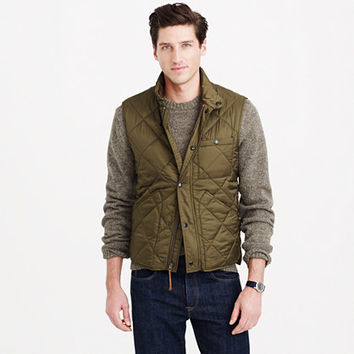 J.Crew Mens Nylon Sussex Quilted Vest