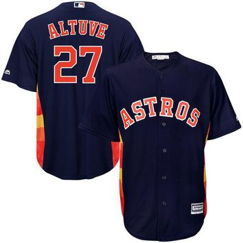 Youth Houston Astros Jose Altuve Majestic Navy Alternate Cool Base Player Jersey