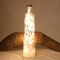 Liquor Bottle Light, Upcycled Ciroc Liquor Bottle, Decor for Mancave, Bar Lighting