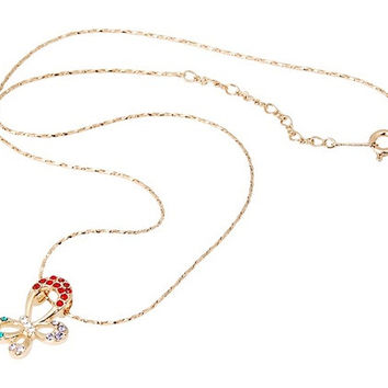 Exquisite 18K RGP Diamond Necklace