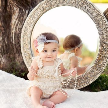 Baby Romper Newborn Babay Lace Petti Romper Infant Girl Jumpsuit Toddler Birthday Outfit Baby Clothing
