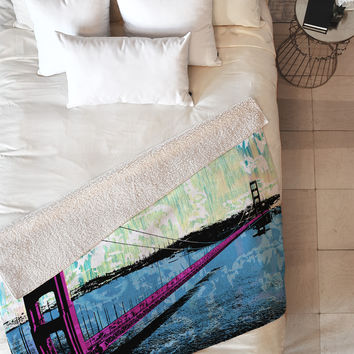 Amy Smith Golden Gate Fleece Throw Blanket