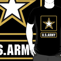 56 US Army custom logo black t-shirt tshirt
