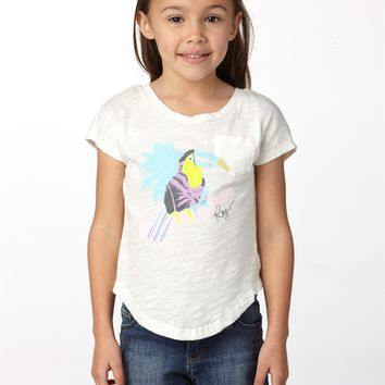 Roxy - Girls 2-6 Toucan Tango Tie Back Tee