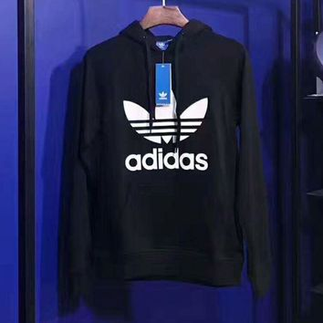PEAPUF3 ADIDAS Women Man Fashion Print Long Sleeve Top Sweater Pullover Hoodie G-A-GHSY-1