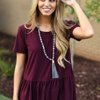 Here To Stay Top in Wine | Monday Dress Boutique