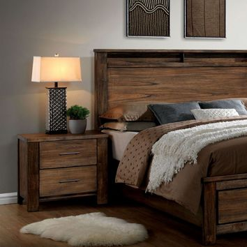 Widel Transitional 2-Drawer Nightstand in Oak