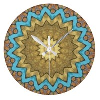 Southwest Stone Kaleidoscope Wall Clock