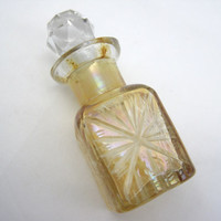 Vintage Glass Perfume Bottle - Cut Glass