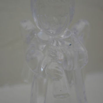 "MIKASA Crystal ""ANGEL"" CANDLE HOLDER  Holiday Christmas Decoration"