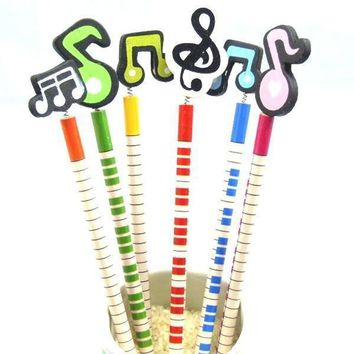 96PCS Musical Note Wooden Pencil Set