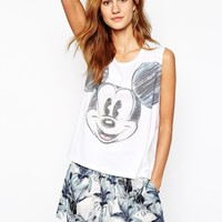 Paul and Joe Sister X Disney Tank with Sketch Mickey