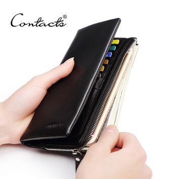 New Classical Vintage Style Men Wallets Genuine Leather Wallet Fashion Purse Card Holder Wallet Man