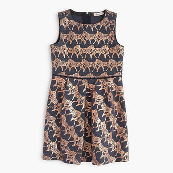 crewcuts Girls Party Dress In Galloping Zebras Print