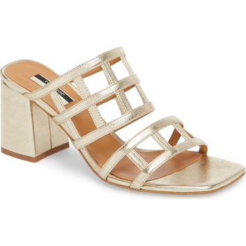 Topshop Eid Night Caged Slide Sandal (Women) | Nordstrom