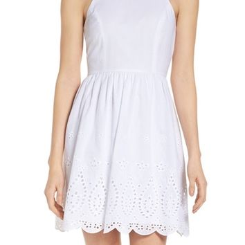 NSR Eyelet Fit & Flare Dress | Nordstrom